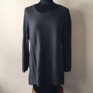 Style & Co charcoal gray pullover sweater sz L